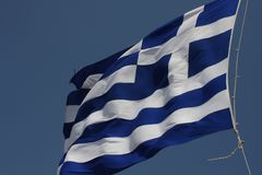 Greece flag - Flag of Greece. Hellenic Republic. Greece flag - Flag of Greece. Hellenic Republic Royalty Free Stock Photography