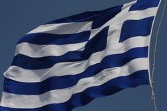 Greece flag - Flag of Greece. Hellenic Republic. Greece flag - Flag of Greece. Hellenic Republic Stock Photography