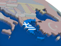 Greece with flag Stock Image