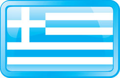 Greece Flag Icon Stock Image