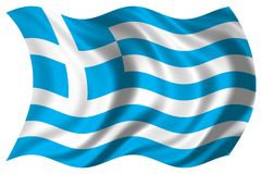 Greece flag isolated Royalty Free Stock Photo