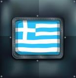 Greece flag on metal wall Royalty Free Stock Image