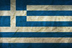 Greece Flag on Paper. Flag on an old Paper Texture Royalty Free Stock Photography