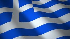Greece flag, seamless loop. stock footage