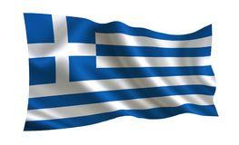 Greece flag, A series of `Flags of the world.` The country - Greece flag vector illustration