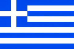 Greece flag, texturised Royalty Free Stock Images