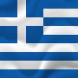 Greece flag. Vector. Royalty Free Stock Photos