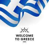 Greece flag. Vector. Stock Images