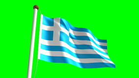 Greece Flag stock video