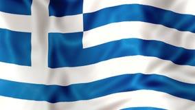 The Greece flag waving stock video