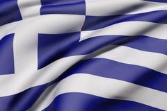 Greece flag waving Royalty Free Stock Image