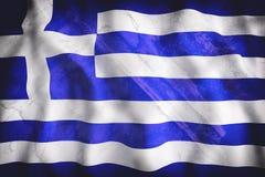 Greece flag waving Royalty Free Stock Photos