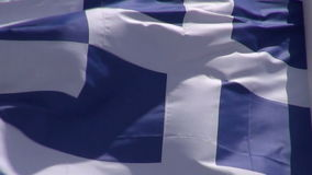 Greece flag waving in the wind and sky stock video footage