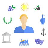 Greece flat design Royalty Free Stock Photography
