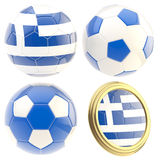 Greece football team attributes  Royalty Free Stock Photo