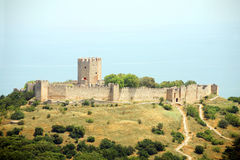 Greece - fortress. Greece - Byzantine stone fortress at North of country Royalty Free Stock Photos