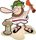 Greece funny man. Color Royalty Free Stock Photos
