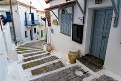 greece gata Arkivbilder