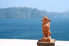 greece grecka santorini rzeźba zdjęcie stock