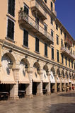Greece Greek Isles Corfu Liston Royalty Free Stock Photos