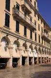 Greece Greek Isles Corfu Liston Royalty Free Stock Photos