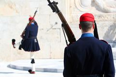 greece guard Royaltyfri Foto