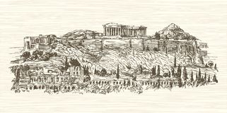 Greece, Athens, Acropolis. Royalty Free Stock Photography
