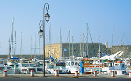 Greece Heraklion port Royalty Free Stock Photo