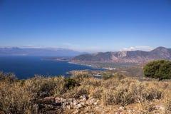 Greece hill flower Stock Photos
