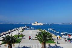 greece historisk nafplio Arkivbilder