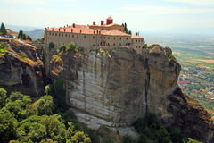 Greece, holy monastery. Holy monasteries in Greece placed on inaccessible rocks Stock Photography
