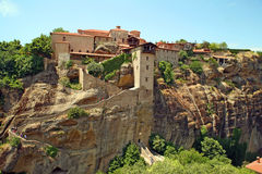 Greece, holy monastery. Holy monasteries in Greece placed on inaccessible rocks Royalty Free Stock Photo