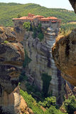 Greece, holy monastery. Holy monasteries in Greece placed on inaccessible rocks Royalty Free Stock Photography