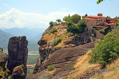 Greece, holy monastery. Holy monasteries in Greece placed on inaccessible rocks Stock Photo