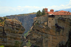 Greece, holy monastery. Holy monasteries in Greece placed on inaccessible rocks Stock Image