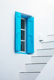 Greece house with blue shuters Stock Photography