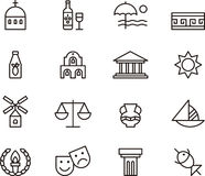 Greece icon set Stock Photography