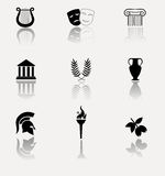 Greece icon set. Stock Photo