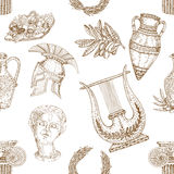 Greece Icons Seamless Pattern Stock Image