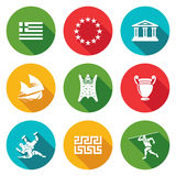 Greece Icons Set. Vector Illustration Royalty Free Stock Image