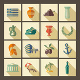 Greece icons Royalty Free Stock Image