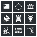 Greece  icons. Vector Illustration Royalty Free Stock Photography