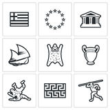 Greece  icons. Vector Illustration Royalty Free Stock Image