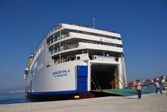 greece ierapetra l ship Fotografering för Bildbyråer