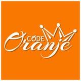 Code Oranje stock illustration. Vector illustration on the theme of Koningsdag in the Netherlands. royalty free illustration