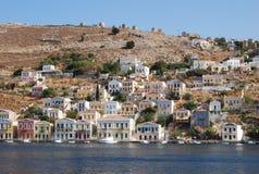 Greece.The Insel von Symi. Stockbild