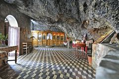Greece, cave church of Agios Ioannis in Crete stock image