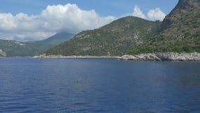 Greece Ionian Islands. Travelling near beautiful Greece Ionian Sea islands stock video footage
