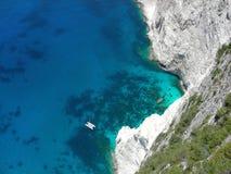 Greece Ionian sea mountains. Bird-eye of island Zakintos in Greece Stock Photos