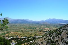 Greece, island Crete view from mount panorama Royalty Free Stock Images